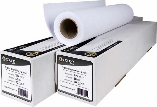 PAPIER DO PLOTERA COLORPLUS 297x50x80G 2 ROLKI